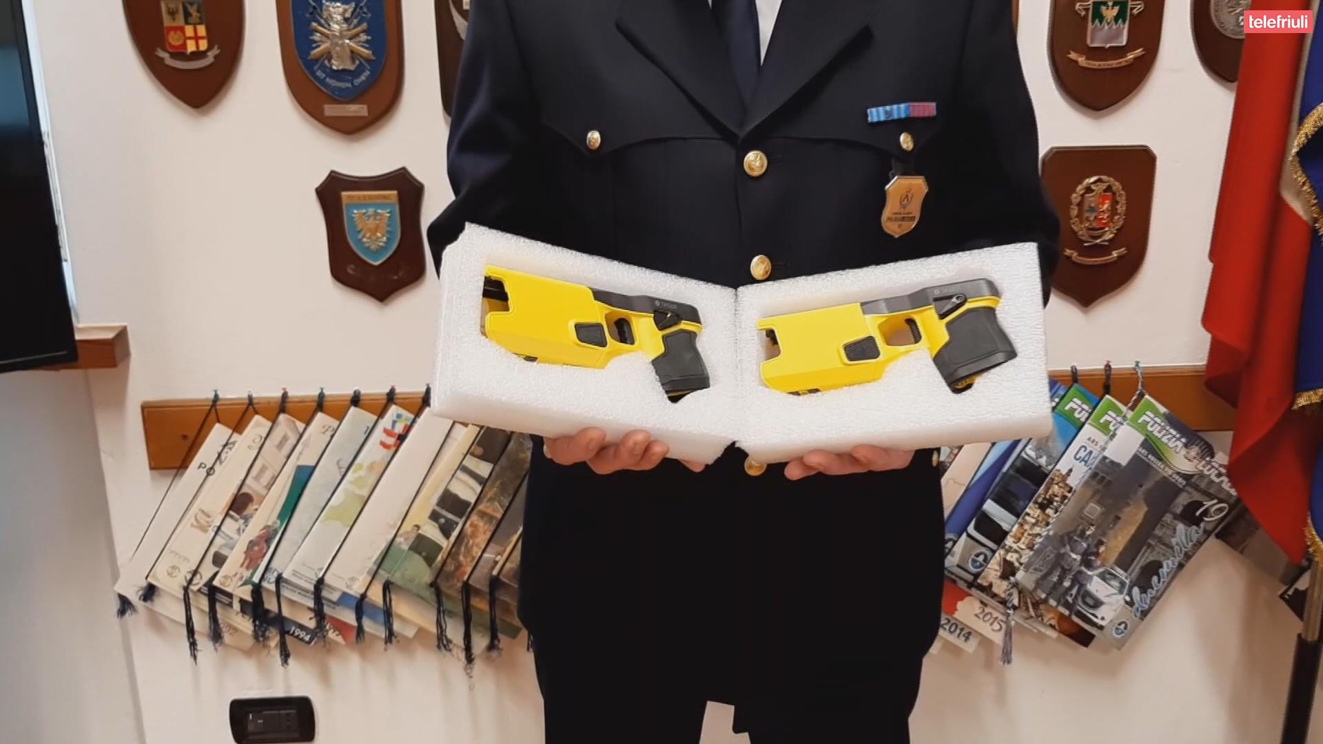 taser in dotazione alla Polizia Locale